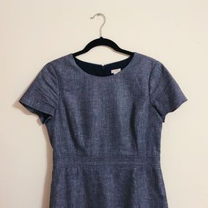 J. Crew Cotton-Linen Dobby Dress, Size 8
